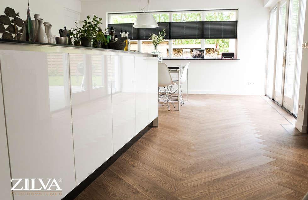 Visgraat Vloer Keuken : Keuken pvc visgraat vloer moderne eetkamer door zilva vloeren