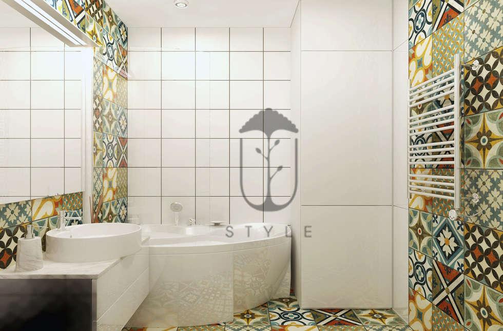 Bagno in stile in stile Minimalista di U-Style design studio