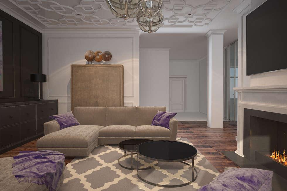 Foto di soggiorno in stile in stile minimalista di u-style ...