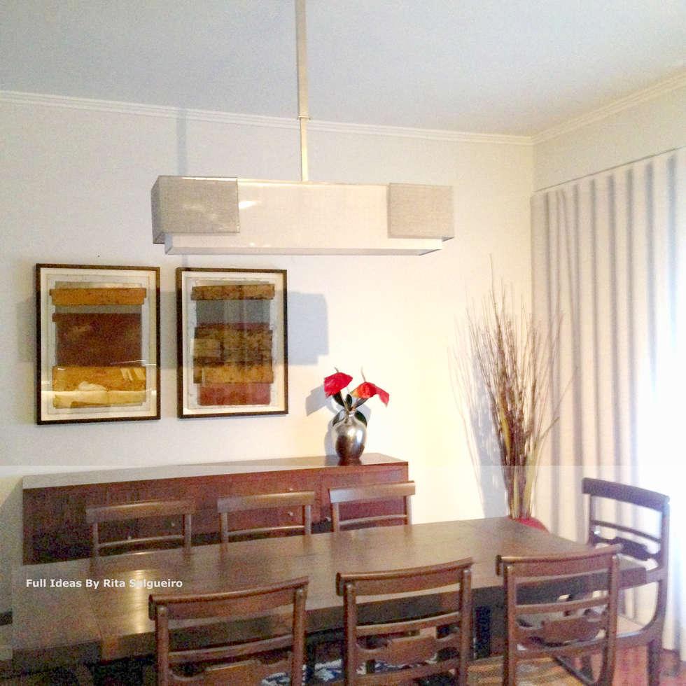 Zona de Jantar: Salas de jantar ecléticas por  Rita Salgueiro - Full Ideas