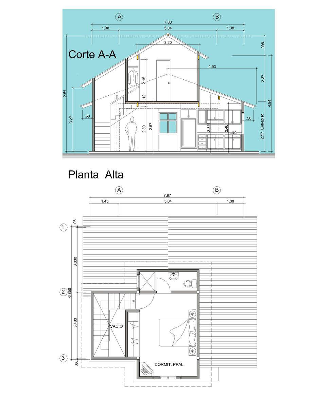 Proyecto de vivienda 2 niveles: Casas de estilo moderno por INVERSIONES NACSE S.A.S.
