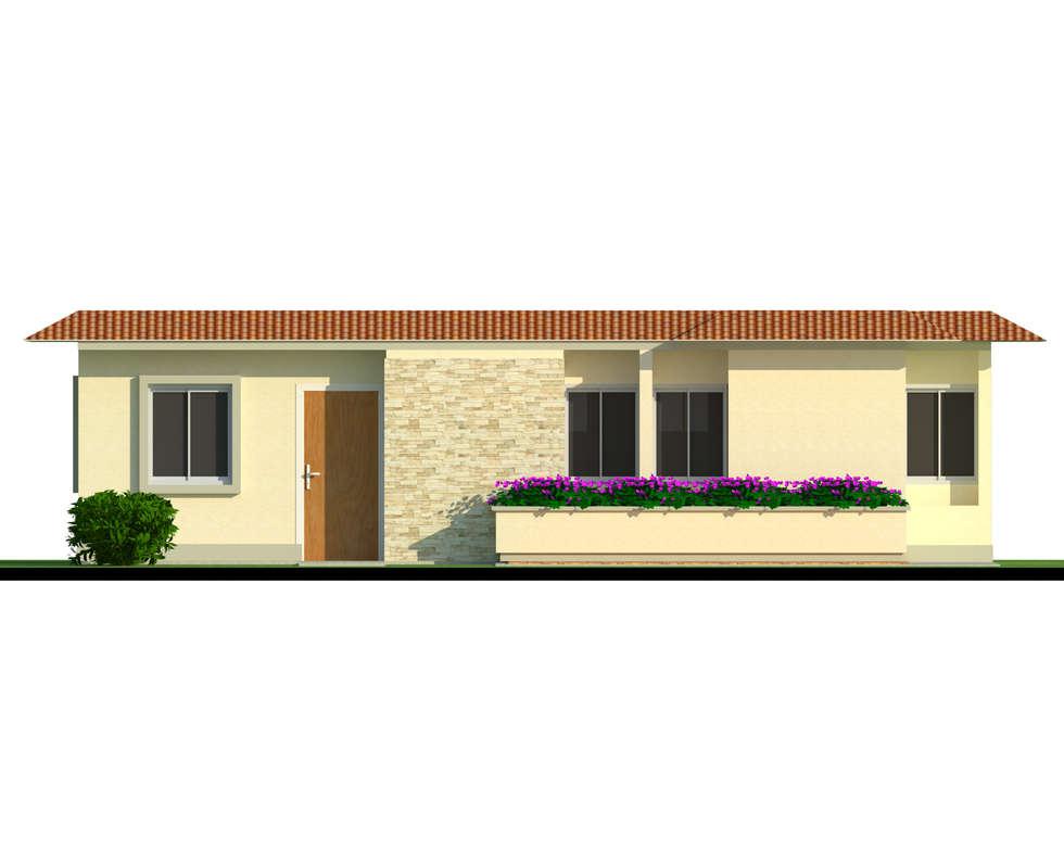 Fachada tipo de vivienda: Casas de estilo moderno por INVERSIONES NACSE S.A.S.