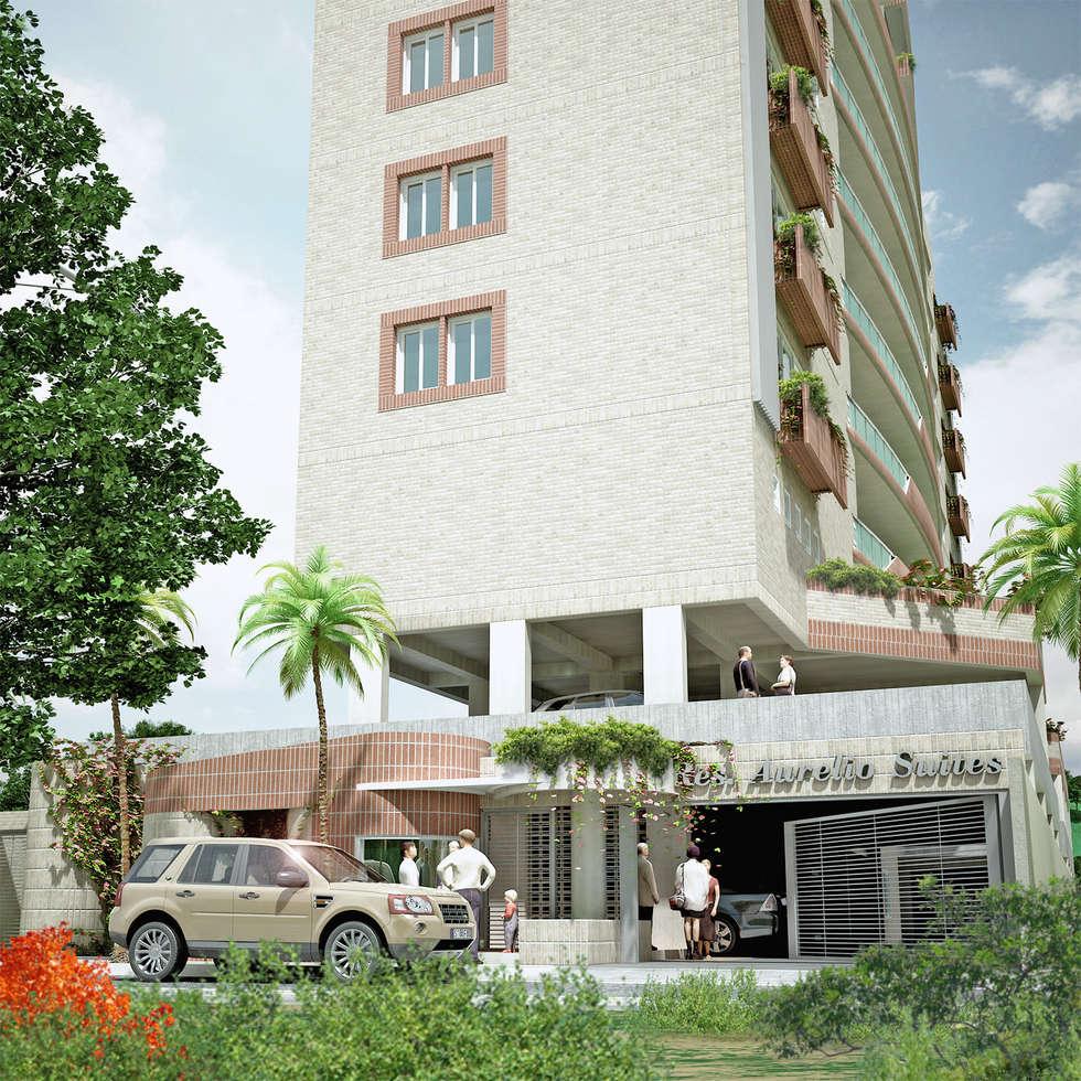 Edificio estrato 5: Casas de estilo moderno por INVERSIONES NACSE S.A.S.