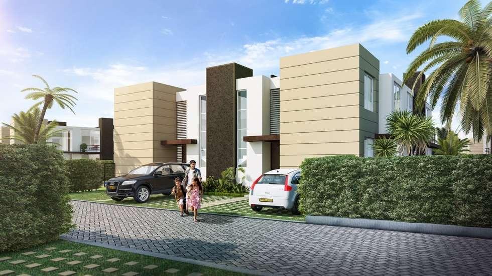 Conjunto habitacional: Casas de estilo moderno por INVERSIONES NACSE S.A.S.