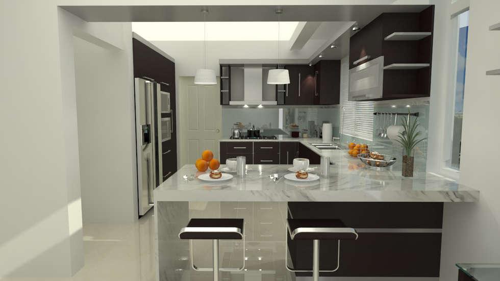 Cocinas de estilo moderno por homify homify Fotos para cocina