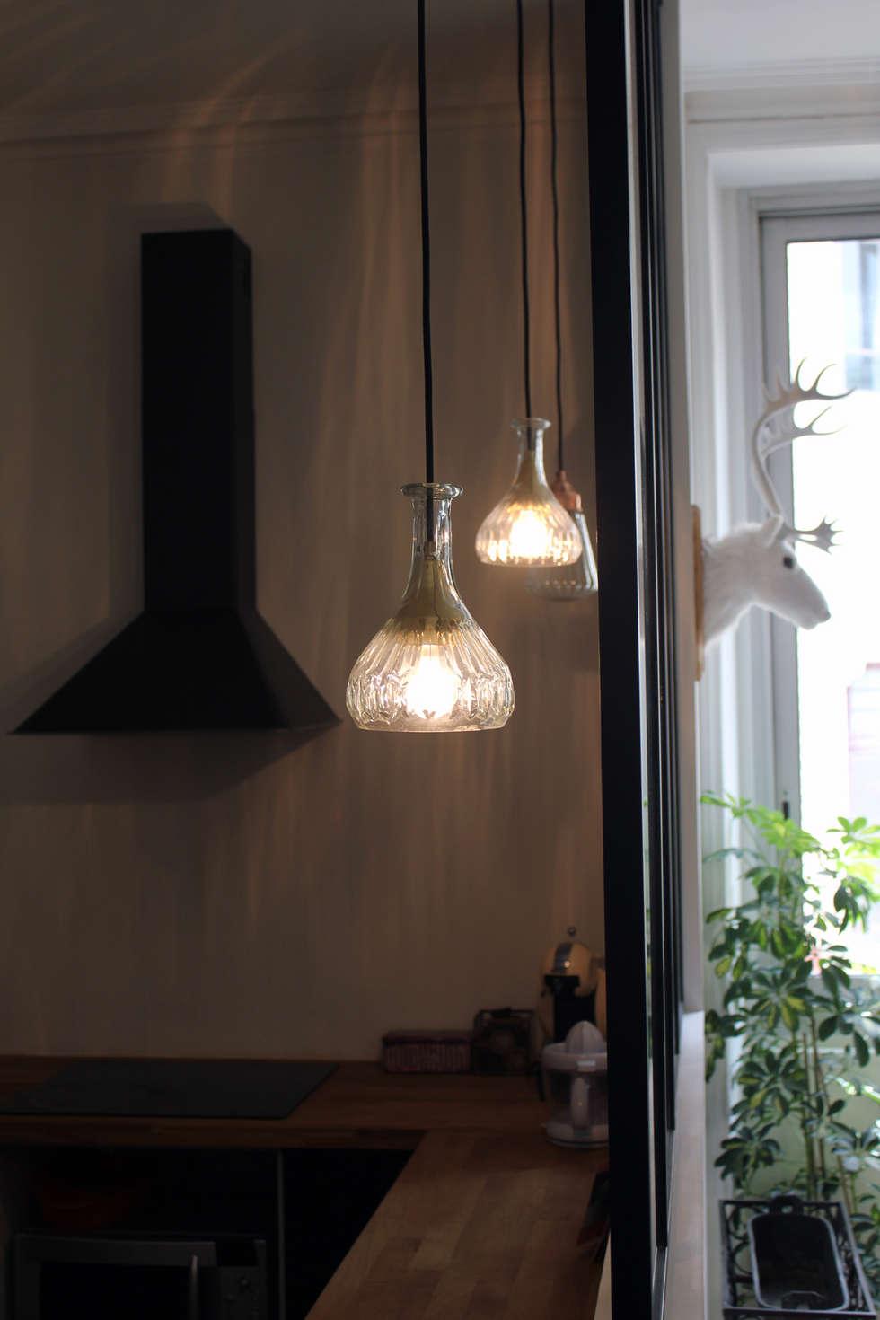 Entre deux...: Cuisine de style de style eclectique par Fabrick d'Architecture Nantaise