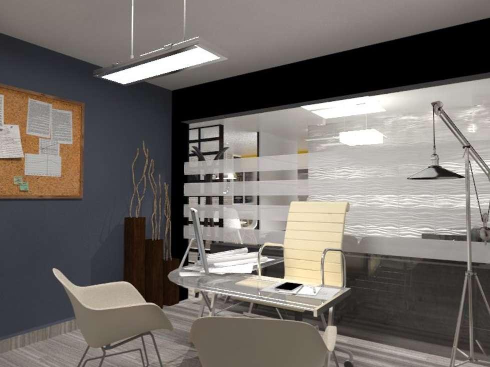 OFICINA: Estudios y oficinas de estilo industrial por AurEa 34 -Arquitectura tu Espacio-