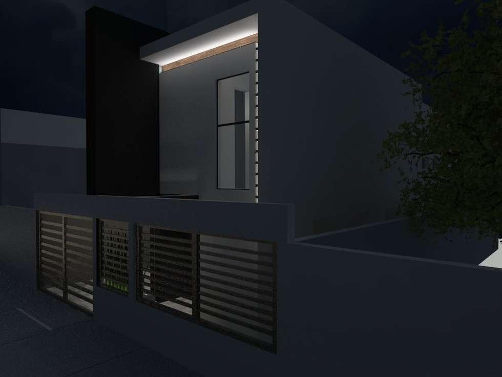 FACHADA: Casas de estilo moderno por AurEa 34 -Arquitectura tu Espacio-