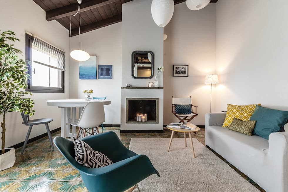 foto di soggiorno in stile in stile moderno : appartamento in ... - Soggiorno Lago Maggiore