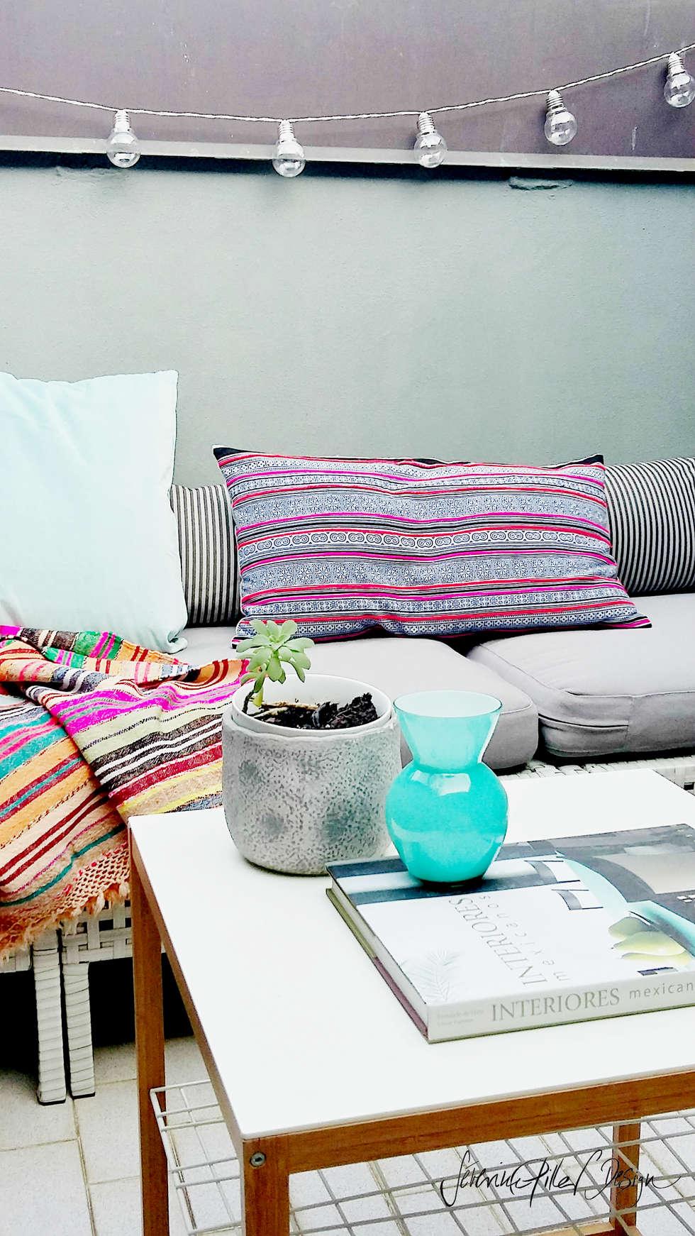 urban oasis: Terrasse de style  par Severine Piller Design