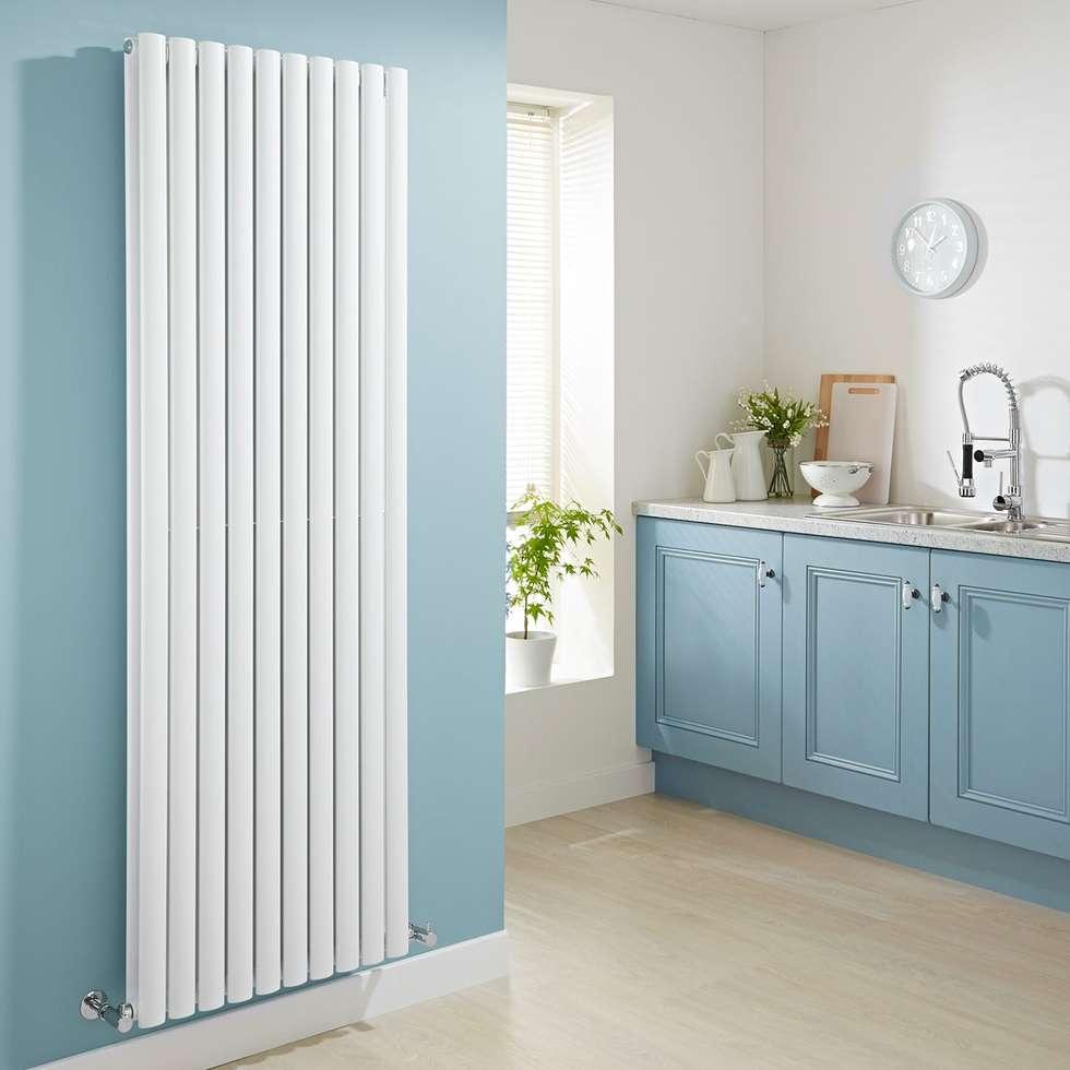 Milano aruba design heizkörper in weiß 3697 watt: moderne küche von ...