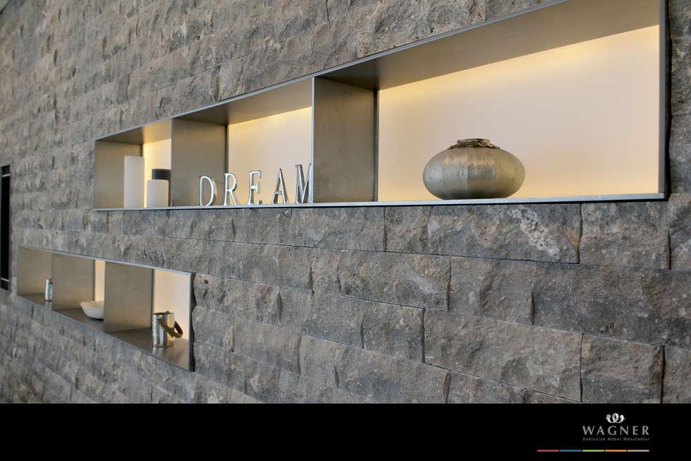 Möbelmanufaktur Wagner fotos de paredes y pisos de estilo ecléctico de wagner möbel