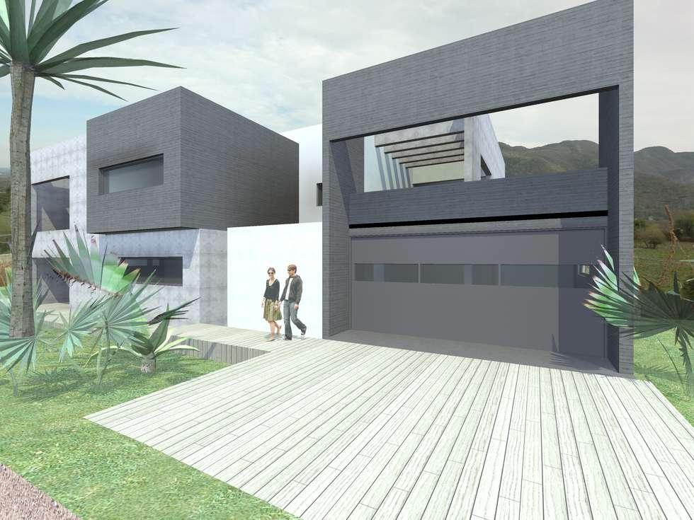 CASA LA CUMBRE: Casas de estilo minimalista por URBANIZARQ