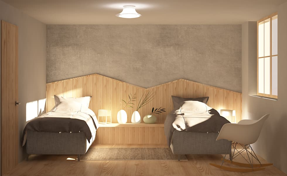 Casa c camera da letto in stile in stile scandinavo di studio associato casiraghi homify - Camera da letto in stile ...