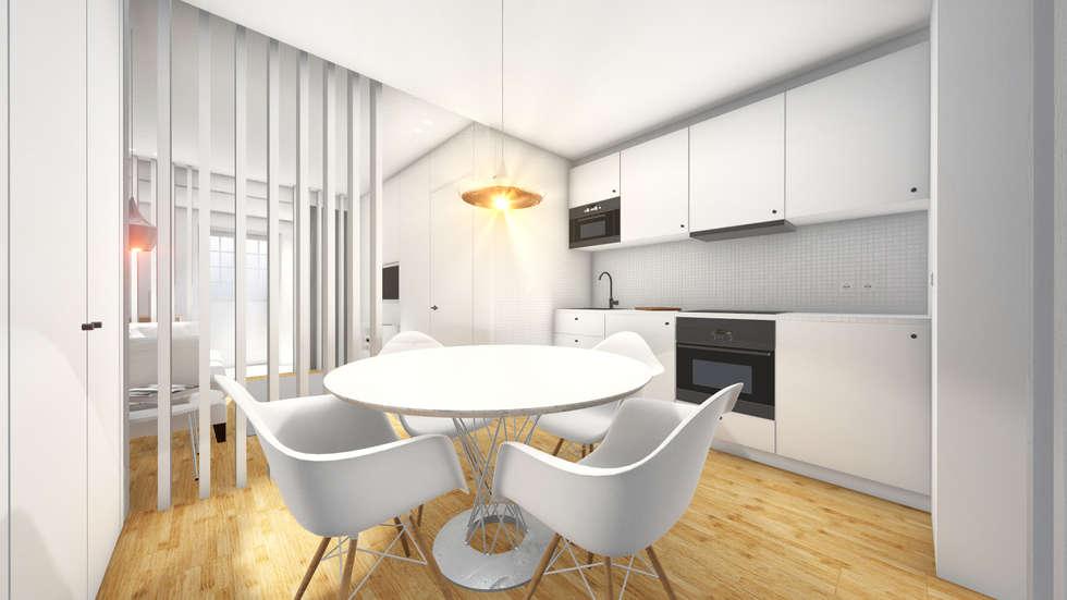 Cozinha - Revisão de projecto: Cozinhas modernas por Arq. Duarte Carvalho