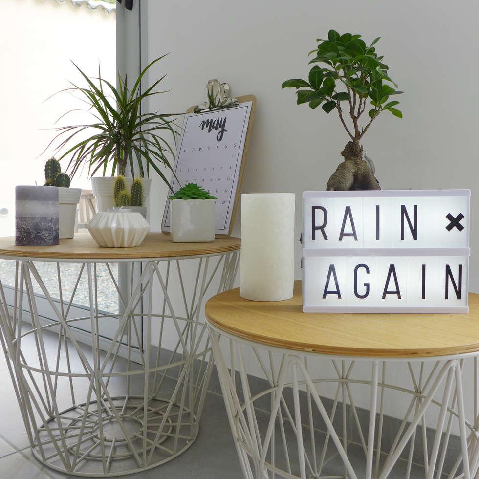 Panier en métal filaire et plantes: Salle à manger de style de style Scandinave par Skéa Designer