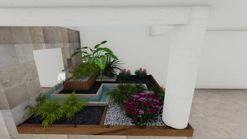 jardin interior jardines de estilo minimalista por amorpho arquitectos u proyect