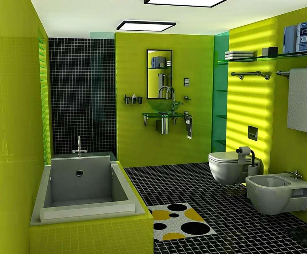 O atrevimento...: Casas de banho modernas por Obr&Lar - Remodelação de Interiores
