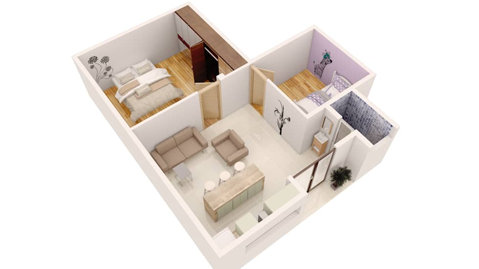 Departamento JPSH: Casas de estilo minimalista por AErre