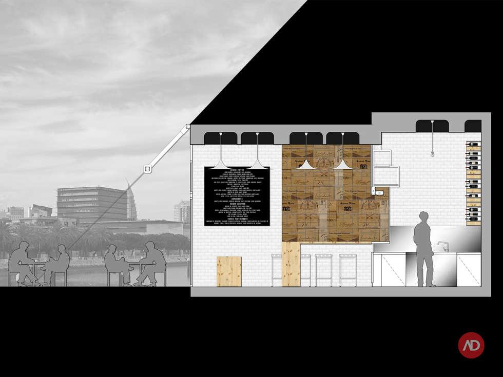 Wine Bar: Espaços de restauração  por ARCHDESIGN | LX