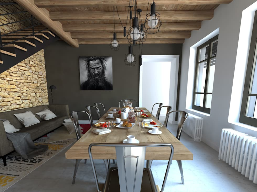 Aménagements pour chambres d'hôtes: Salle à manger de style de style Moderne par La Fable