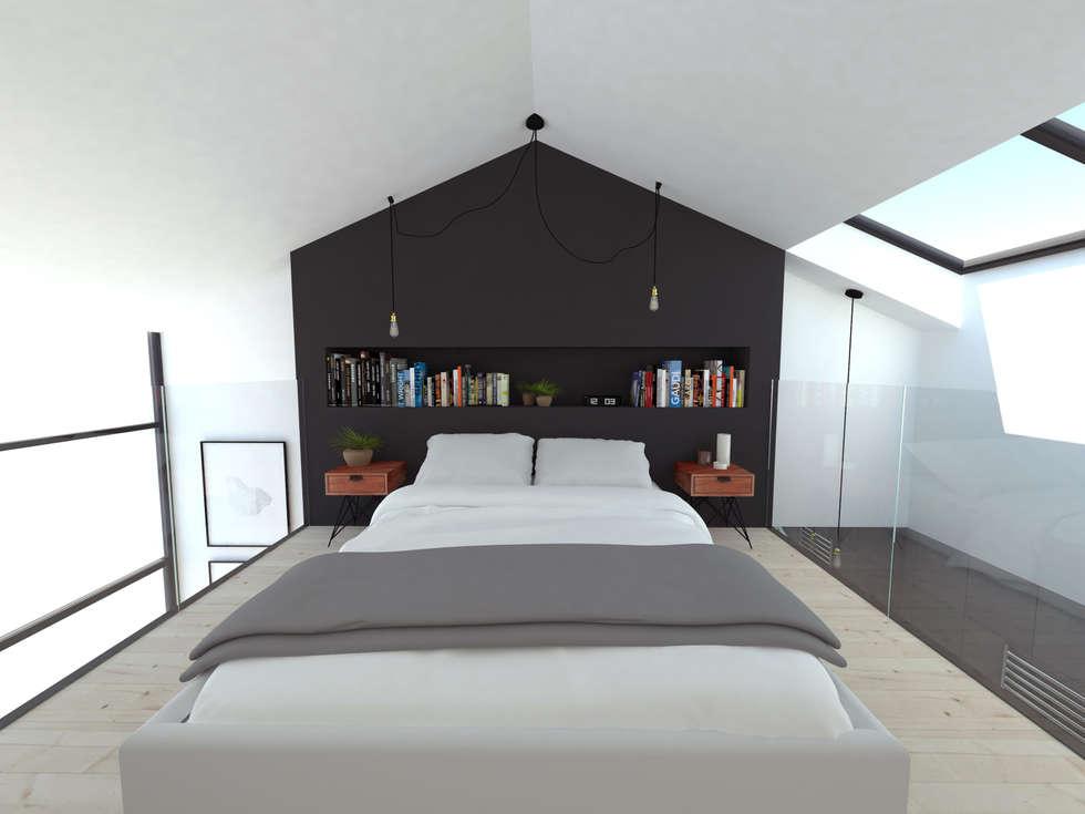 Extensions pour des chambres d'hôtes: Chambre de style de style Minimaliste par La Fable
