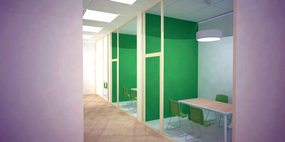 Showroom pour la marque Suédoise Aura Light: Locaux commerciaux & Magasins de style  par Chopardesign