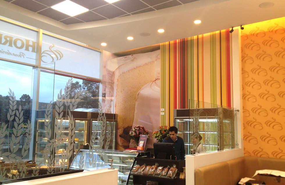 Local Hornitos: Espacios comerciales de estilo  por AV arquitectos