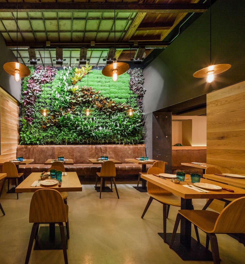 fotos de decoraci n y dise o de interiores homify On el jardin vertical restaurante