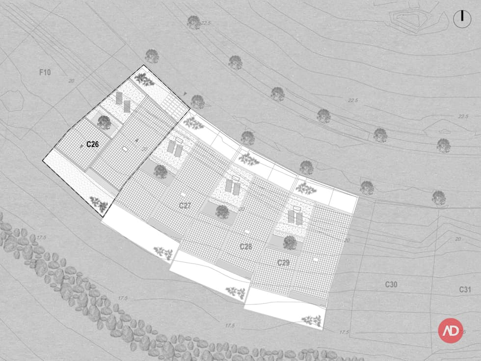 Moradias Unifamiliares: Casas modernas por ARCHDESIGN   LX
