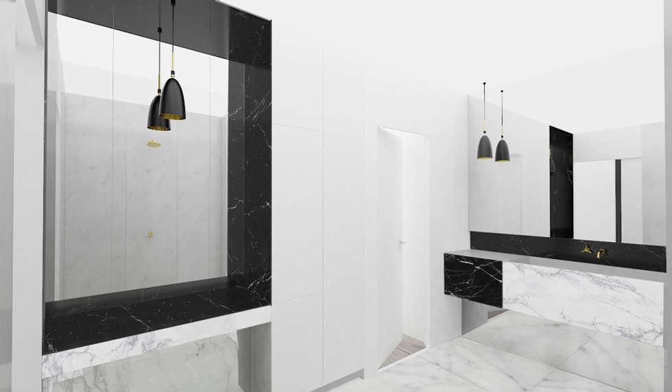 SDB parentale: Salle de bains de style  par Yeme + Saunier