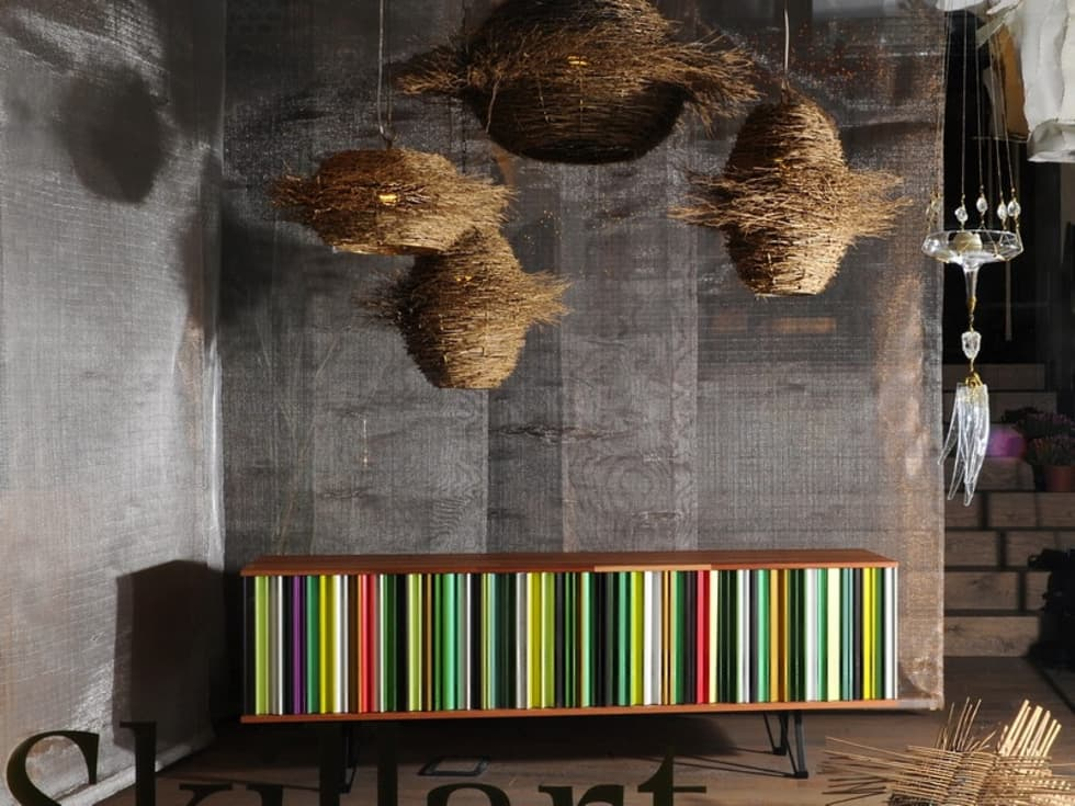 SKILLART SHOWROOM - Pannelli divisori: Pareti in stile  di Tessitura Tele Metalliche Rossi