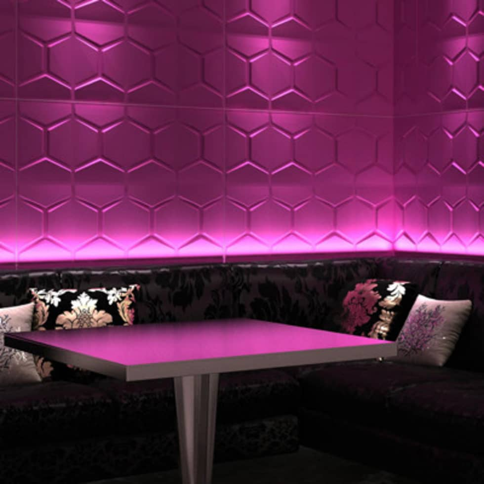 Comb 3D Wall Panel:  Bars & clubs by Twinx Interiors
