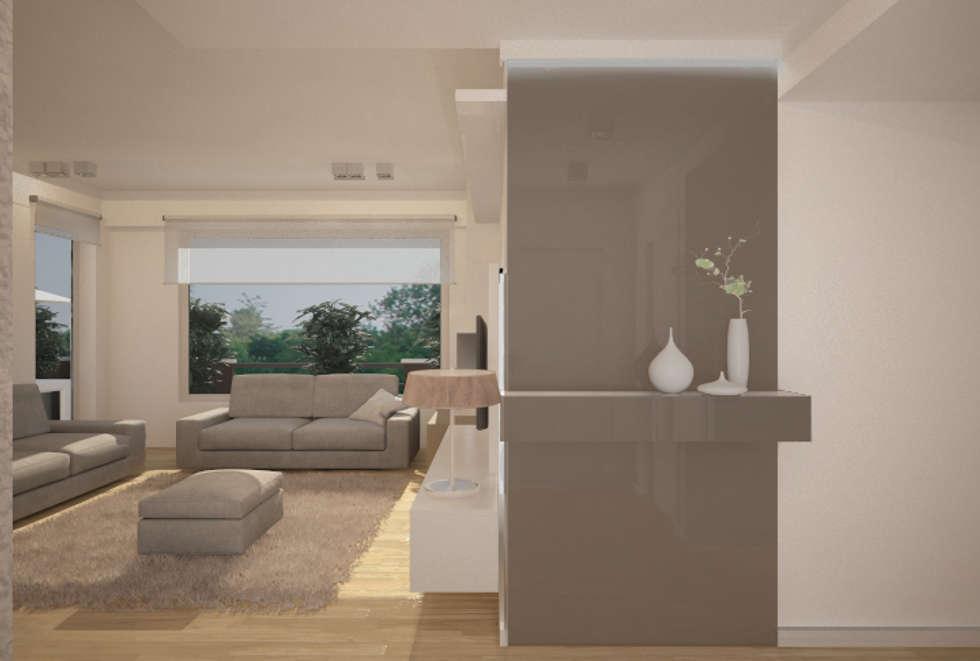 Ingresso - proposta 2: Ingresso & Corridoio in stile  di Studio Atelier di Silvana Barbato