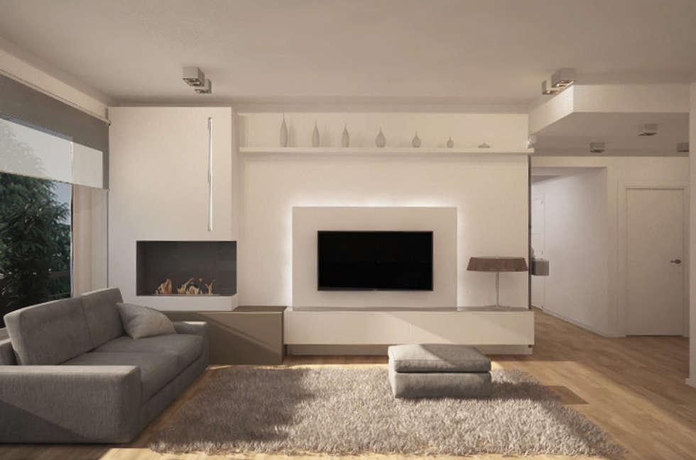 Idee arredamento casa interior design homify for Salotto parete attrezzata