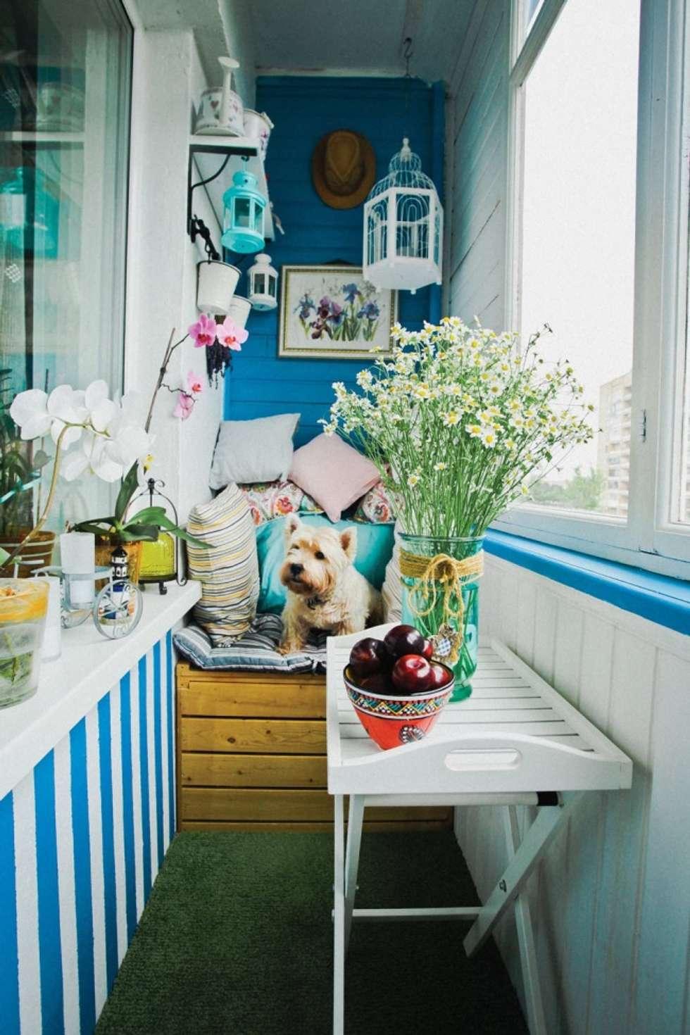 Оформление балкона - фото идеи, новинки, модные тенденции, с.