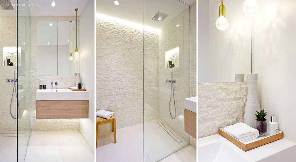 MAIN BATHROOM: industrial Bathroom by Landmass London