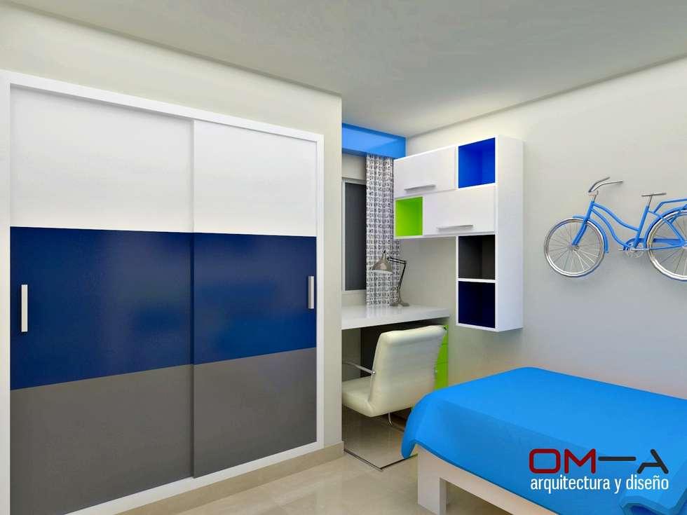 Dise o interior en apartamento espacio dormitorio de ni o for Diseno de habitaciones infantiles
