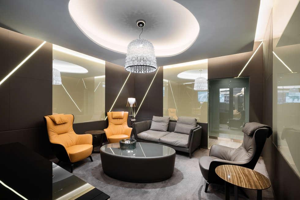 Casa Alitalia Lounge_Rome: Soggiorno in stile in stile Moderno di Studio Marco Piva
