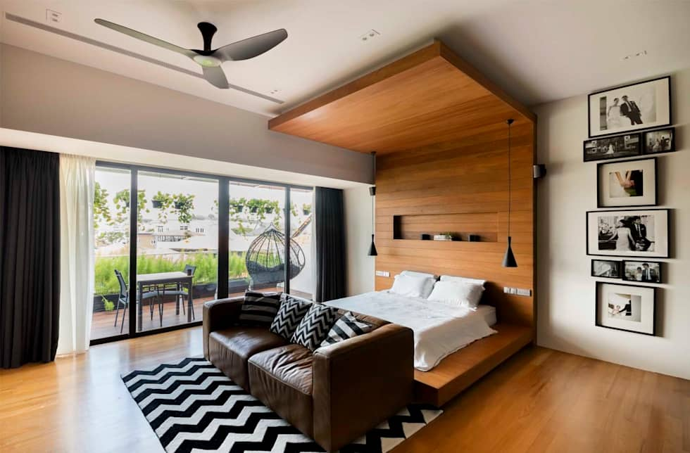 FRANKEL STREET: modern Bedroom by Eightytwo Pte Ltd