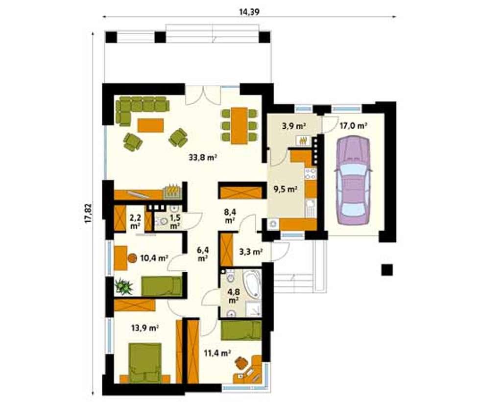 Paredes y pisos de estilo moderno por BIURO PROJEKTOWE MTM STYL