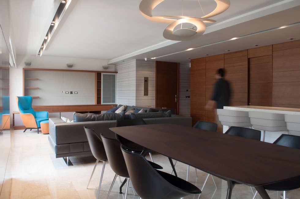Apartamento Qvadra Sebucán: Comedores de estilo moderno por VODO Arquitectos