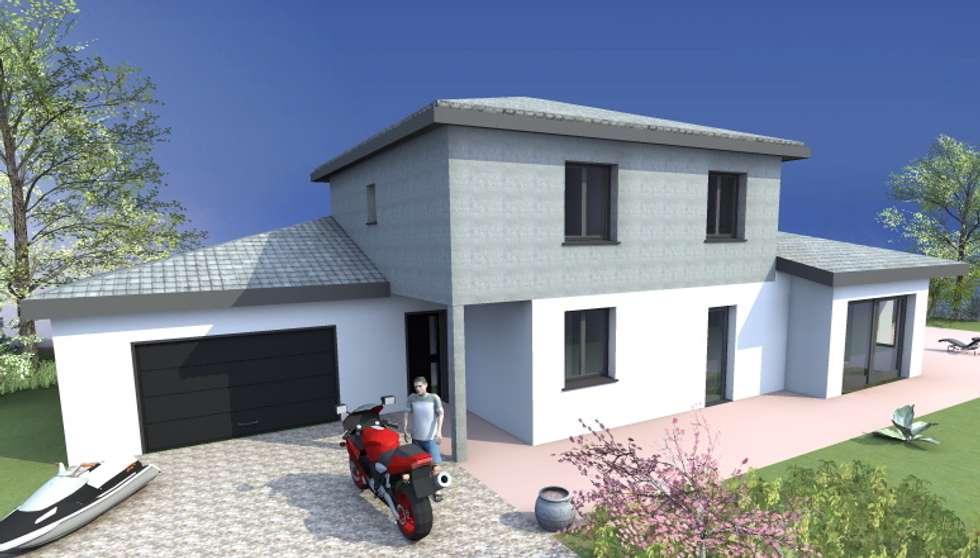 Construction contemporaine : Lieux d'événements de style  par VILLE ET HABITAT construction