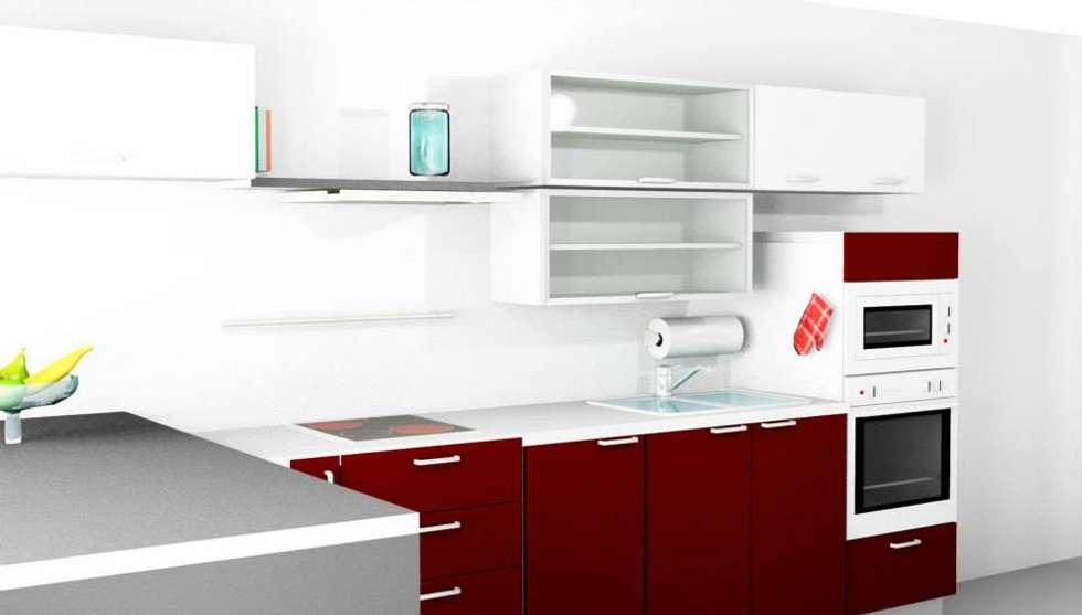 Cocina: Cocinas de estilo moderno por Abasto de Diseño