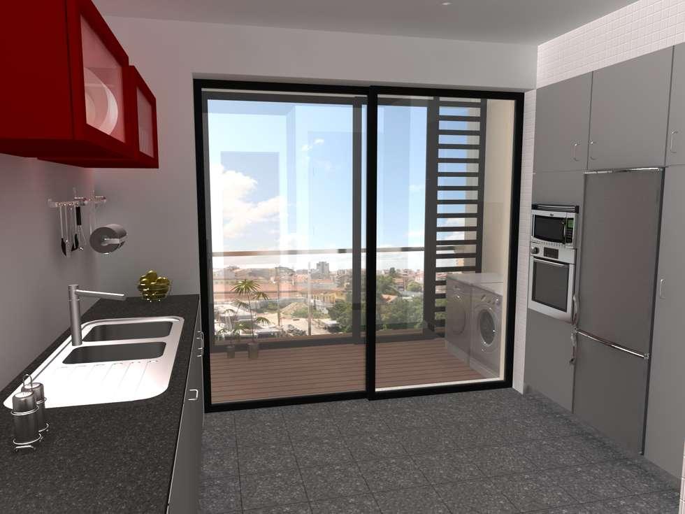 Edifício de Habitação colectiva - Varandas da Ria : Casas modernas por José Vitória Arquitectura