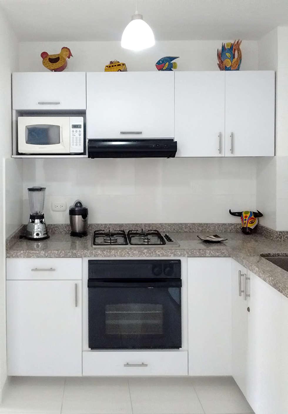 Área de cocción : Cocinas de estilo moderno por Remodelar Proyectos Integrales