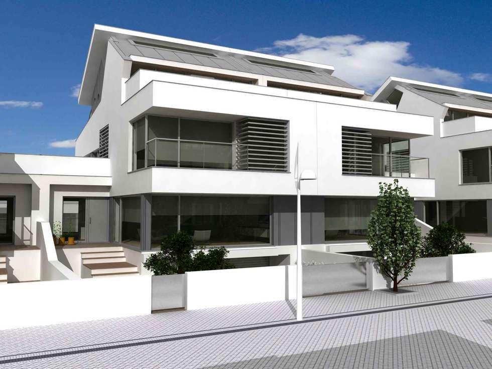 Loteamento Quinta Da Marina: Casas modernas por José Vitória Arquitectura