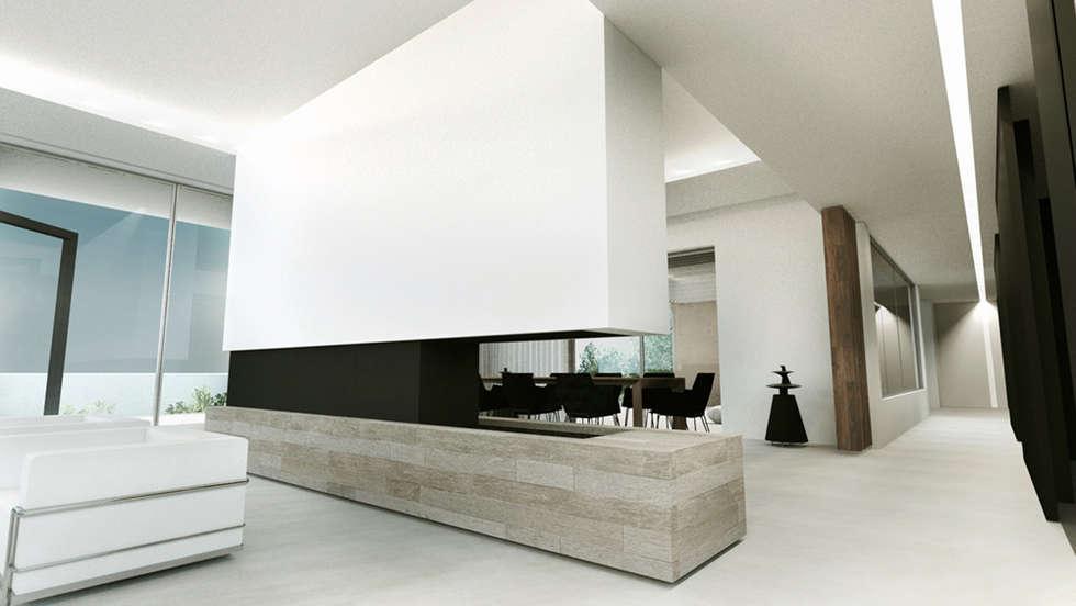Villa e saint tropez salon de style de style moderne par arrivetz belle homify - Salon saint tropez but ...