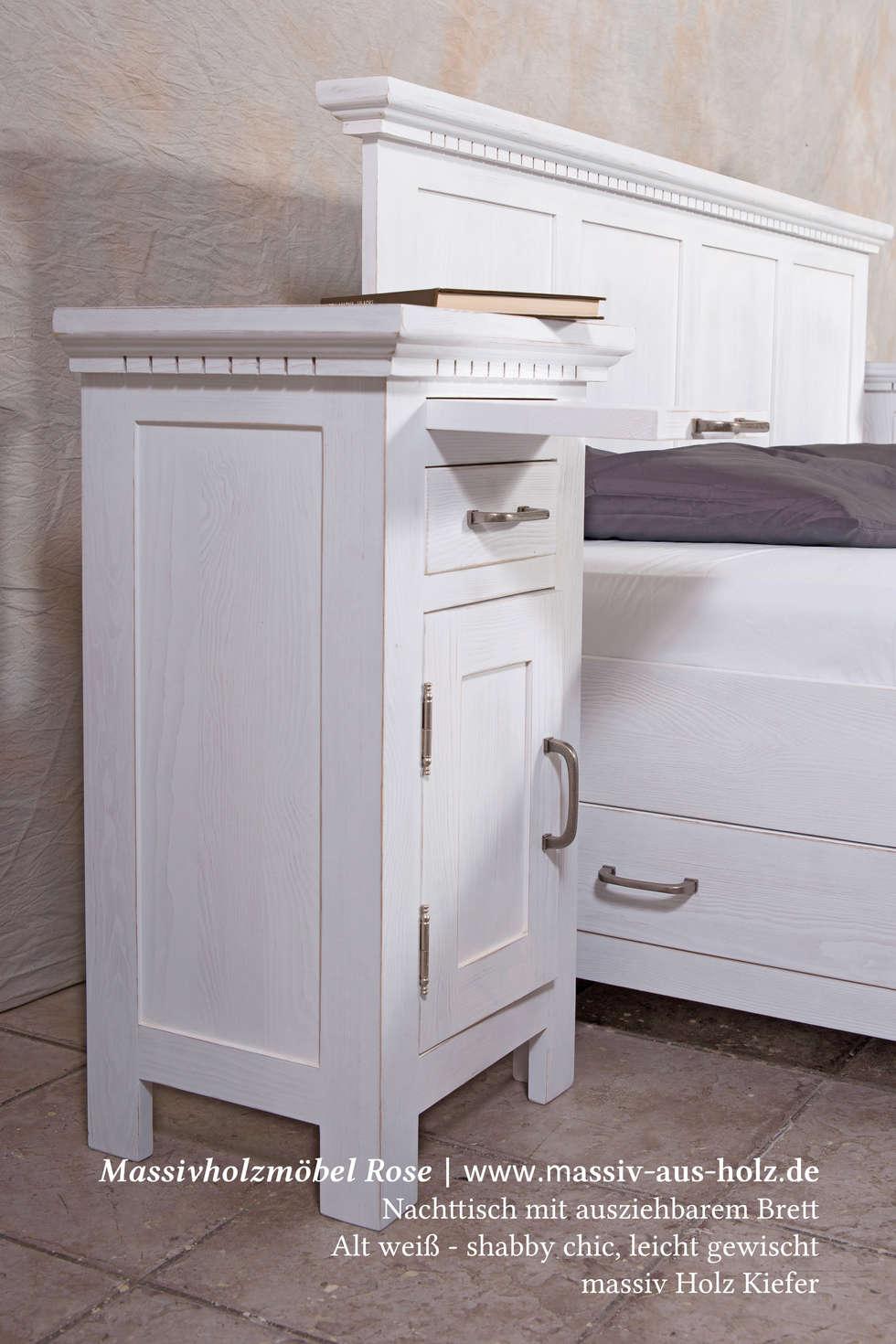 Cool Massiv Aus Holz Beste Wahl Weißes Bett Und Nachttisch: Moderne Schlafzimmer Von