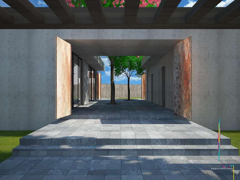 PO2: Casas de estilo minimalista por Atelier U + M